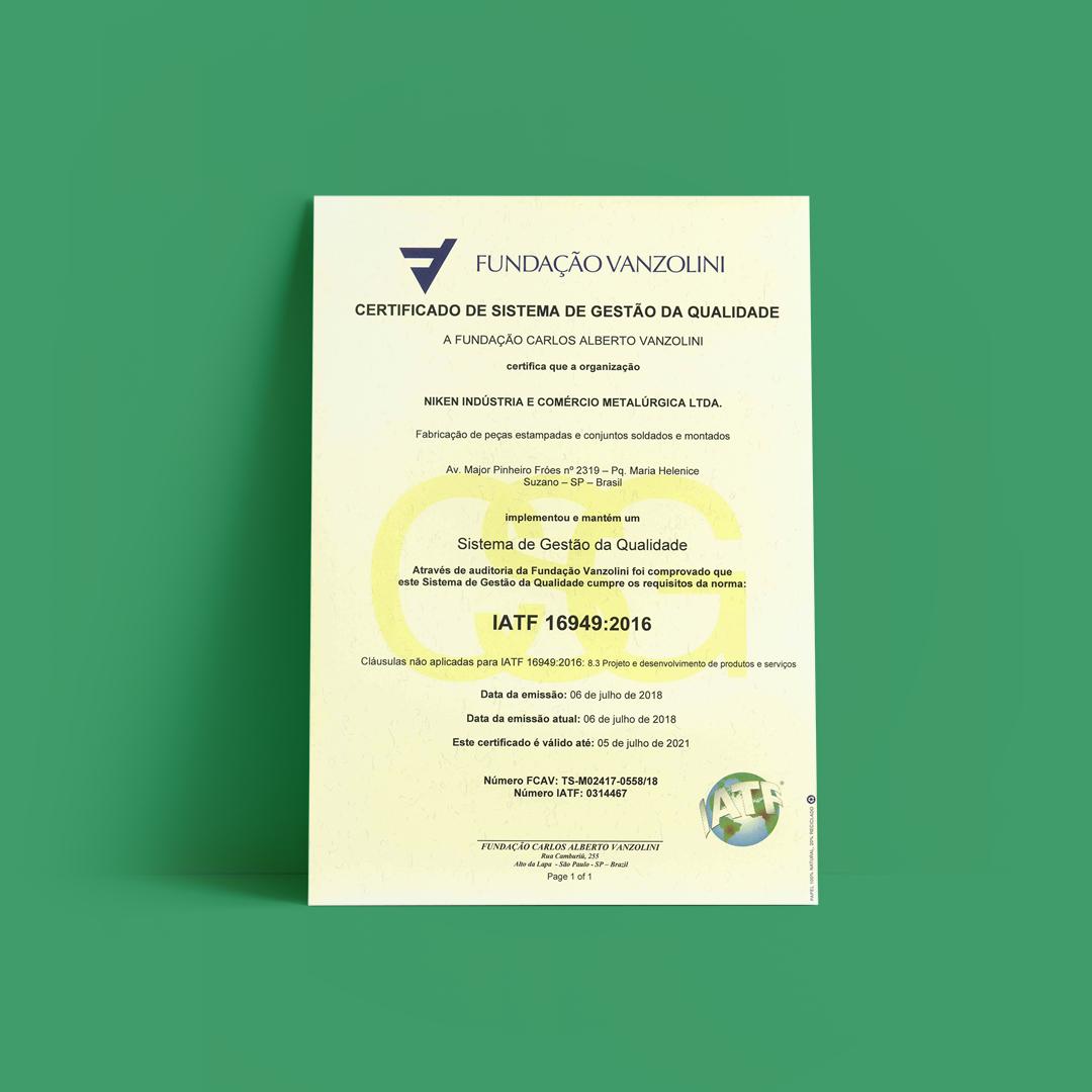 Certificações Niken